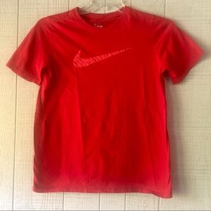{Nike} Red Animal Print Logo T-Shirt